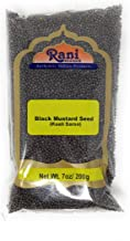 Rani Black Mustard Seeds Whole Spice (Rai Sarson) 7oz (200g) All Natural ~ Gluten Free Ingredients   NON-GMO   Vegan   Indian Origin