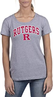 Top of the World NCAA Womens Trim Modern Fit Ideal Short Sleeve Crew Neck Gray Heather Tee