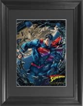 Superman Man of Steel 3D Poster Wall Art Decor Framed Print   14.5x18.5   Lenticular Posters & Pictures   Memorabilia Gifts for Guys & Girls Bedroom   DC Comic Book Classic Superhero Movie Fan Photo