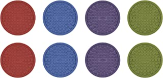 OXO Good Grips Coasters, Red, Purple, Green and Blue, Set of 8