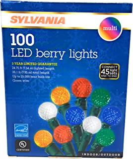 SYLVANIA 100 Count LED Indoor/Outdoor Beveled Berry String Lights (Multi)