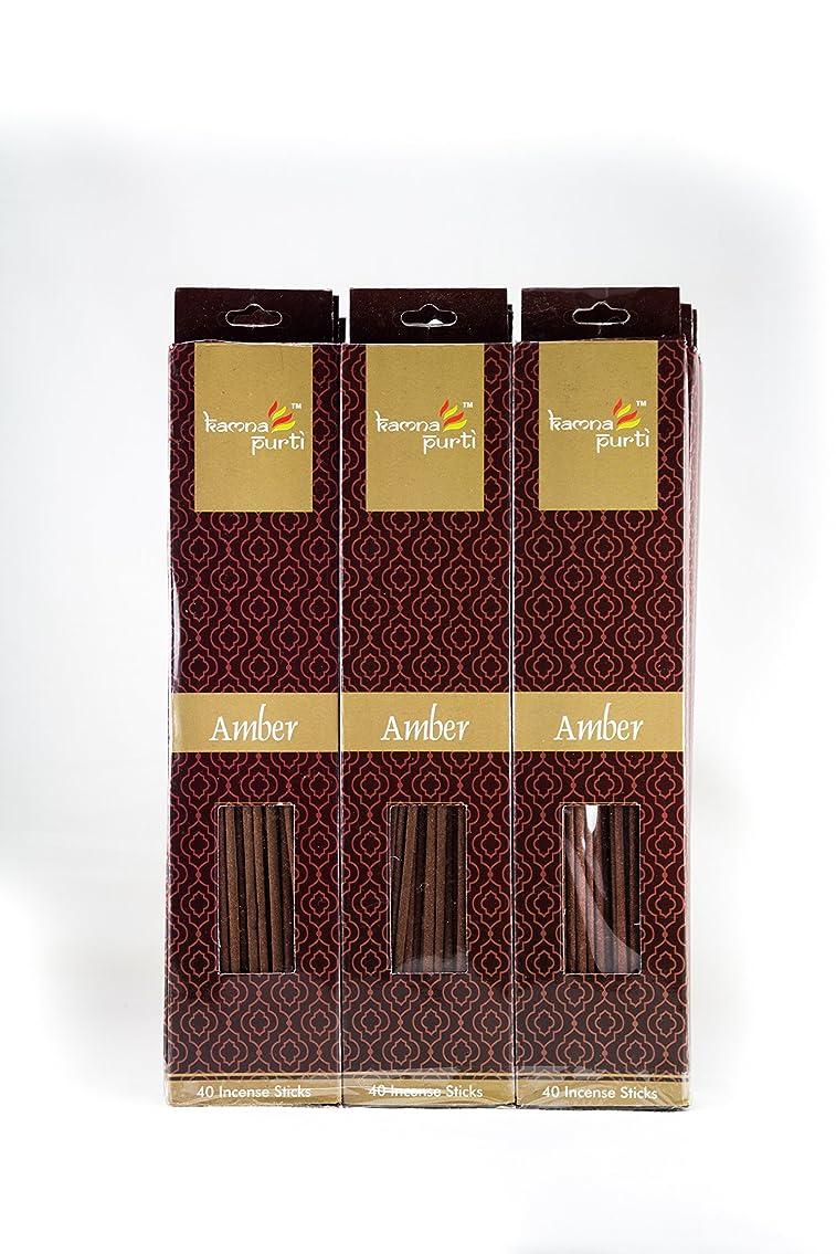 コア健全葬儀SBF Crafts 12セットIncense Sticks (40?Sticks/各) Amber Highly Fragrance Incense Infused with Essential Oilsパーティ用理想的、Spa & Aroma Therapy。
