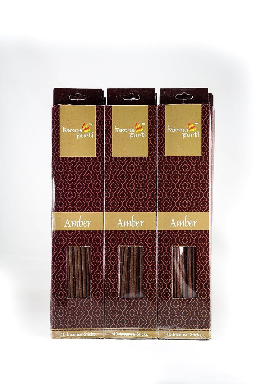生理ホバート春SBF Crafts 12セットIncense Sticks (40?Sticks/各) Amber Highly Fragrance Incense Infused with Essential Oilsパーティ用理想的、Spa & Aroma Therapy。