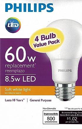 Philips New 60-Watt Equivalent A19 LED Light Bulb Soft White - 2700K - 4