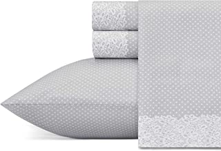 Betsey Johnson Lace Dot Sheet Set King Medium Grey