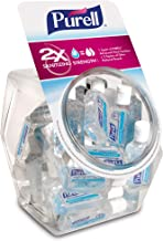 PURELL Advanced Hand Sanitizer Refreshing Gel, Clean Scent, 1 fl oz Flip-Cap Bottle with Display Bowl (Pack of 36) - 3901-...