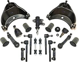 PartsW 17 Pc Front Complete Suspension Kit for Chevrolet C1500 C2500 Tahoe/GMC C1500 Suburban Yukon, Adjusting Sleeves, Tie Rod Ends, Sway Bars, Control Arms & Ball Joints, Idler & Pitman Arms
