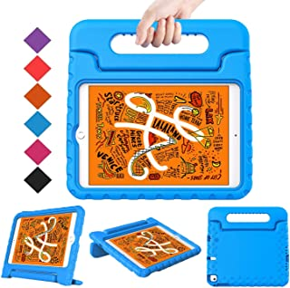BMOUO Kids Case for New iPad Mini 5 2019 /iPad Mini 4 2015 - Light Weight Shockproof Protective Convertible Handle Stand Case Cover for iPad Mini 5th Generation 7.9 inch 2019 (Latest Model) - Blue