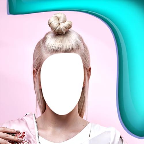 Blondes Haar Foto Montage