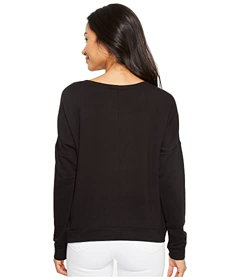 American Rose Savannah Dolman Sleeve Fleece Sweatshirt Black Free Shipping New Arrival Free Shipping Affordable Free Shipping Pay With Paypal kSw8nH7Q6
