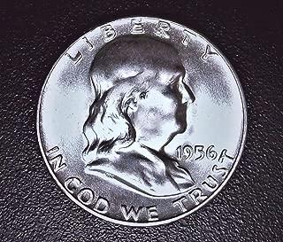 1956 Beautiful Brilliant Uncirculated Mint State Franklin Half 90% Silver Coin 1/2 BU
