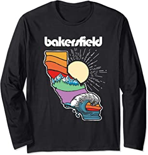 Bakersfield California Outdoors Retro Nature Graphic Long Sleeve T-Shirt