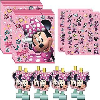 Unique Minnie Mouse Party Favor Bundle | Pencils, Stickers, Blowouts, Loot Bags | Kids Birthday Party, Baby Shower Decor, ...