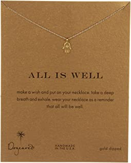 Dogeared All is Well Hamsa Reminder Necklace