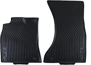 Genuine Audi Accessories 8K1061221041 Black Rubber Front All-Weather Floor Mat, (Set of 2)
