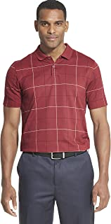 Men's Flex Short Sleeve Stretch Windowpane Polo Shirt