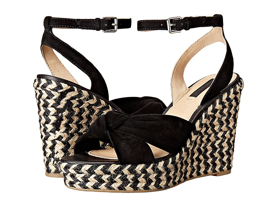 Frye Charlotte Twist Ankle Sandal (Black Suede) Women