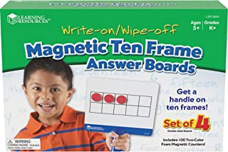 Learning Resources LER6645 Magnetic Ten Frame Boards 7 x 6-1/4 in