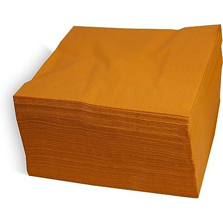 MORIGAMI SER42207310 Servilleta 40x40, 2 capas, pliegue 1/4, 100 servilletas, 2 capas lisa con cenefa, Naranja
