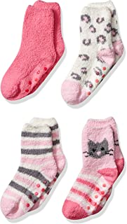 Girl's 4-Pack Slipper Socks
