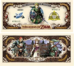 Legend of Zelda Limited Edition Collectible Novelty Million Dollar Bill - Comes In Currency Holder - Best Gift for Zelda Fans - Superior Quality
