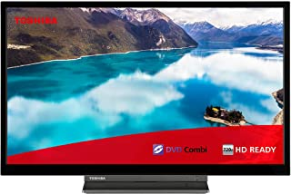 Toshiba 24WD3A63DB 24-Inch HD Ready Smart TV with Freeview Play and Built In DVD Player - Black/Silver (2019 Model)