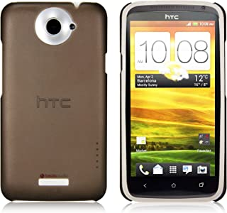 جراب iShell أسود متجمد سهل التركيب + واقي شاشة لهاتف HTC One X