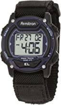 Armitron Sport Unisex 45/7004BLU Navy Blue Accented Digital Chronograph Black Nylon Strap Watch