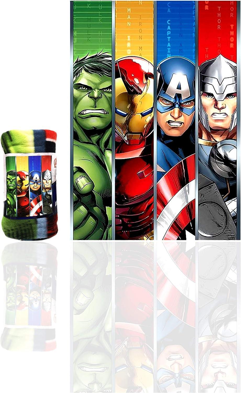 Marvel Avengers Great interest Kids Blanket Hulk safety Man Thor Officia Iron