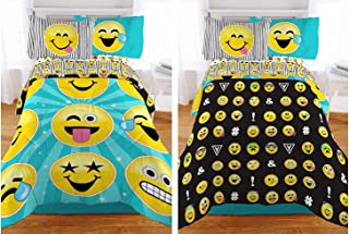 Emoji Reversible Microfiber Girls Comforter - Twin / Full