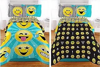 Emoji Reversible Microfiber Girls Comforter - Twin / Full