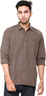 EASY 2 WEAR ® Men Checks Shirts Plus Size - Full Sleeves (S to 5XL) Comfort/Regular FIT Shirts