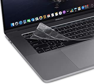 """Moshi Clearguard for 2019/2018/2017/2016 New MacBook Pro 15"""" 13"""" with Touch Bar, Thunderbolt 3, USB-C, Thin, Washable, Pro..."""