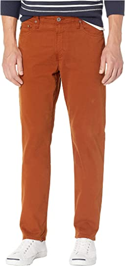 Everett Slim Straight Leg Sud Pants in Cognac