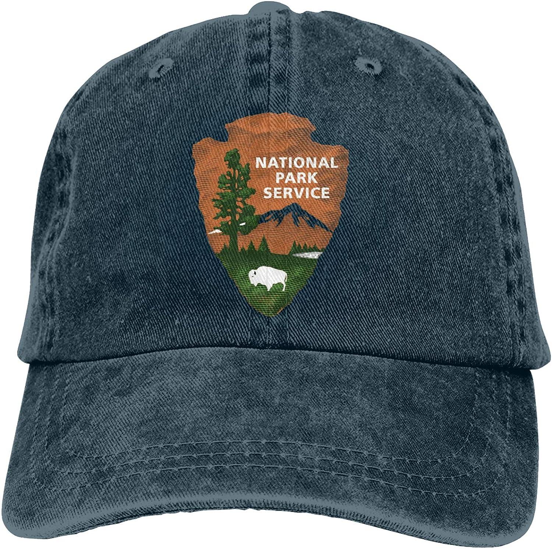 Denim Cap US National Park Logo Baseball Dad Cap Classic Adjustable Casual Sports for Men Women Hat