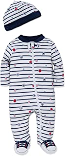 Little Me Boys` 2-Piece Footie & Cap Set