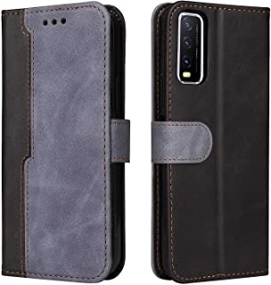 Grandcaser Case for Vivo Y20 Ultra-thin Business Magnetic Buckle Leather Flip Standing Bracket Shockproof Protective Cover...
