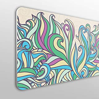 design astratto pittura in tessuto blu turchese scuro stile grunge economica Testiera per letto in PVC decorativa Megadecor
