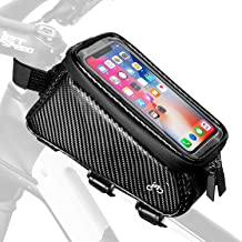 INBIKE Bike Front Frame Bag Phone Mount Top Tube Touchscreen Waterpoof Handlebar Holder Case Below 6.5inch for Bicycle