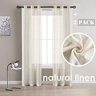 Best riona natural linen blend curtains Reviews