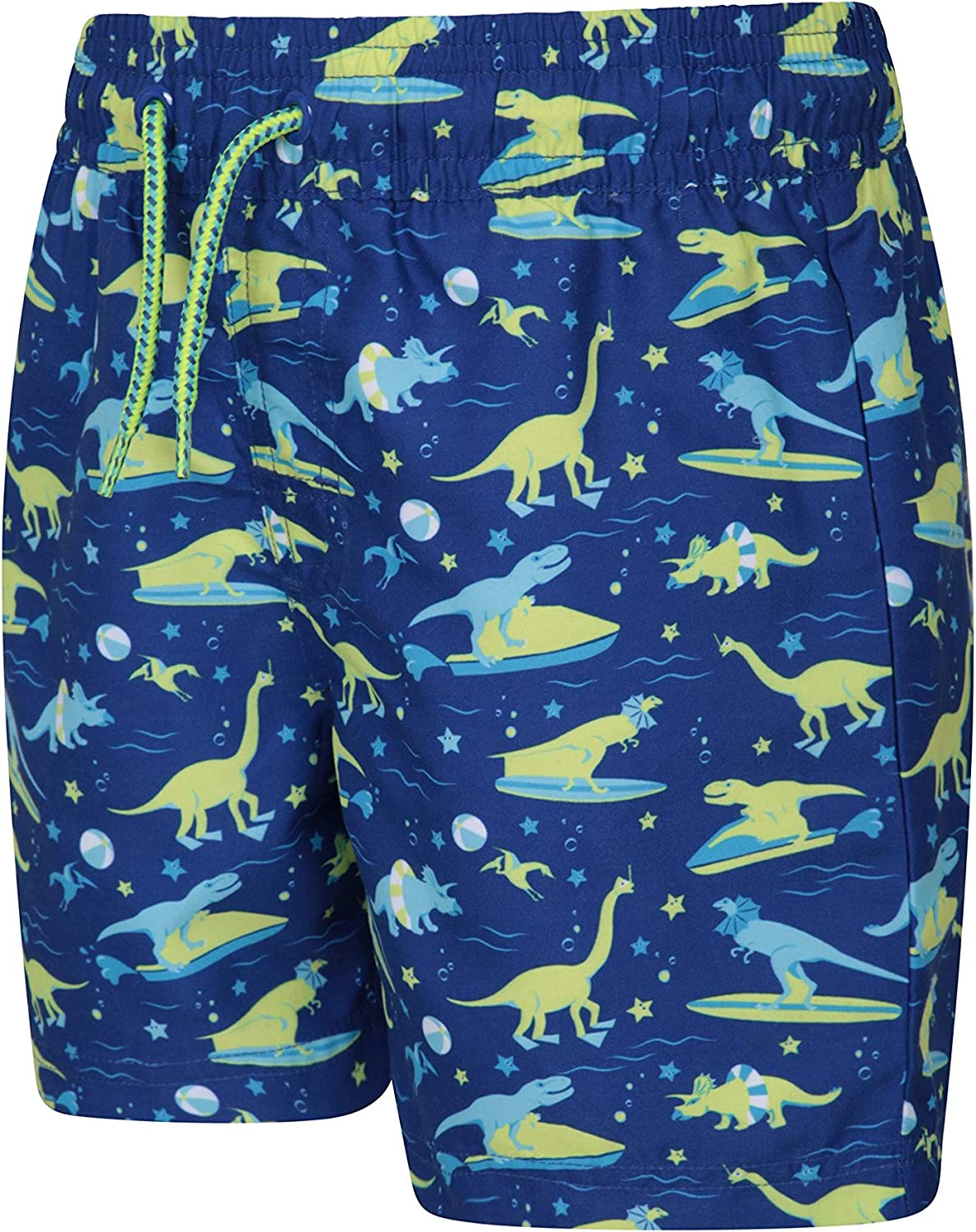 Surfing /& Pool Lightweight Beach Shorts Easy Care Kids Swim Shorts Mountain Warehouse Patterned Kids Boardshorts 2 Cargo Pockets with Adjustable Waist -for Swimming