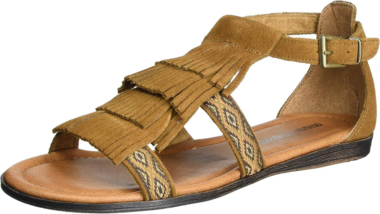 Minnetonka Women's Maui Passport Collection Sandal Brown