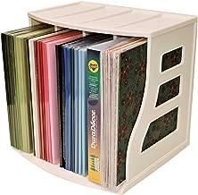 Office Desktop Organizer, Ring Binder Stand, Craft & Scrapbook Paper Rack Box, Vinyl Record Storage Crate Cube, LP Album Holder, Holds Over 70 Records, Lever Arch Shelf, Stackable, Binder Way Brand