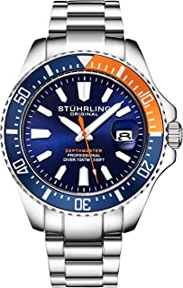Original Watches for Men - Pro Diver Watch - Sports Watch for Men with Screw Down Crown for 330 Ft. of Water Resistance - Analog Dial, Quartz Movement - Mens Watches Collection