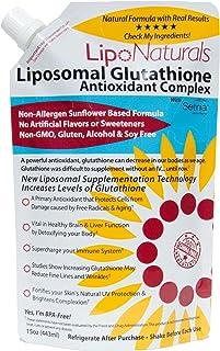 Lipo Naturals Liposomal Glutathione Antioxidant Complex 15oz | 100% China-Free | No Artificial Preservatives | No Soy | 30...