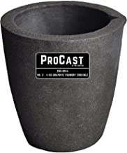 #3-4 Kg ProCast Foundry Clay Graphite Crucibles with Pour Spout Cup Propane Furnace Torch Melting Casting Refining Gold Silver Copper Brass Aluminum