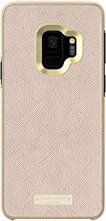 kate spade new york Wrap Case for Samsung Galaxy S9 - Rose Gold Saffiano Rose Gold / Gold Logo Plate
