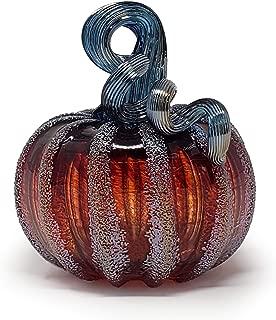 Luke Adams Glass Mini Pumpkin (Frosted Cranberry)