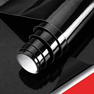 Black Contact Paper for Cabinets, Johgee 15.8