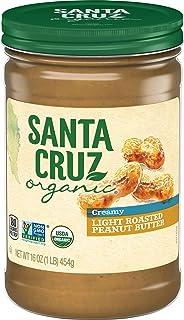 Santa Cruz Organic Peanut Butter, Light Roasted, Creamy, 16 Ounces